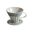 Oriberry wavy coffee drip filter, Bat trang ceramic